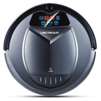 Используемый робот-пылесос LIECTROUX B3000, виртуальный блокировщик, самозаряжающийся светодиодный сенсорный экран, предназначенный для жестког...