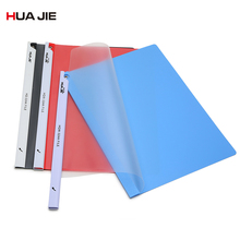 Creative Transparent File Folder A4 2Pcs Clip Report Folder Spine Bar Office Business Document Storage Filing Product HQW-324 coloffice 2018 new impression a4 paper color dot folder four color business office folder data storage folder new filing product