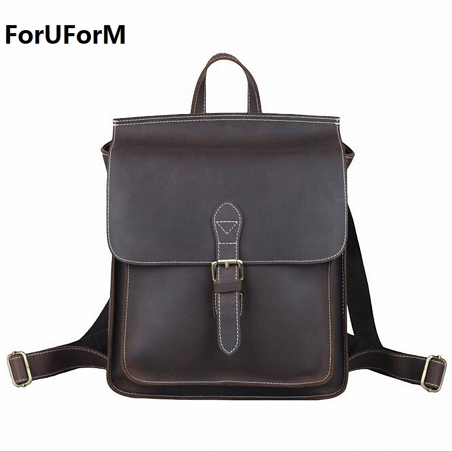 Famous Brand men Backpacks Genuine Leather fashion bag women backpack school IPAD bag travel men's backpacks men bags LI-1468 famous brand luxury men backpack genuine leather vintage mochila black men sport double shoulder bag men s backpacks bp00042