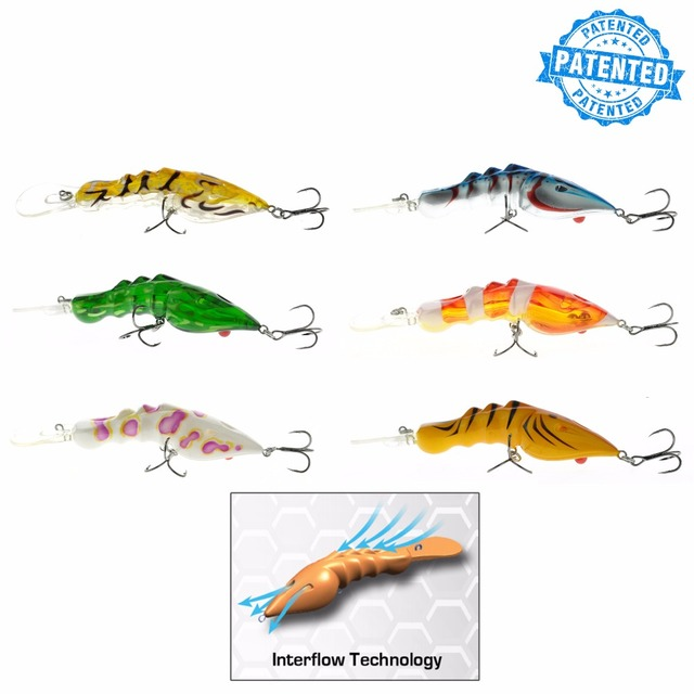 Predator Labs GM SHRIMP Series Minnow Popper pencil lures InterFlow Maximised Turbulence System Bass Fishing Lures