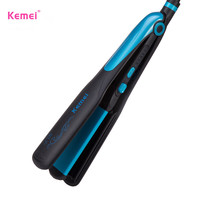 kemei hair straightener professional 2 in 1 ionic straightening iron and curler styling tool waves curling irons curler women