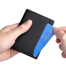 Genuine Leather Mens Wallets Thin purse Card Holder Cowskin Soft Mini wallet