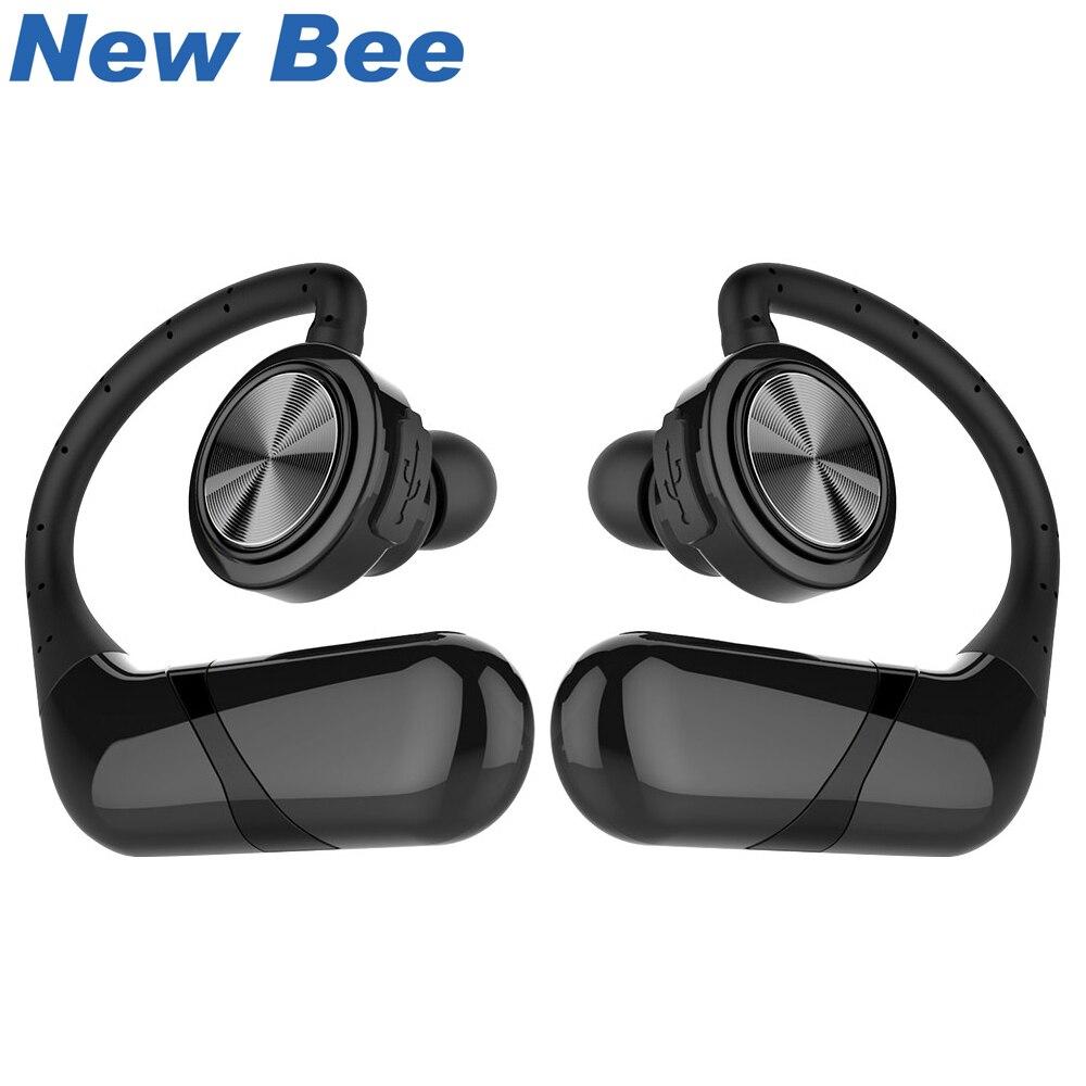 New Bee Écouteur Mains Libres Sans Fil Bluetooth Casque TWS Stéréo Étanche Sport Écouteurs Avec Microphone Pour Téléphone Ordinateur