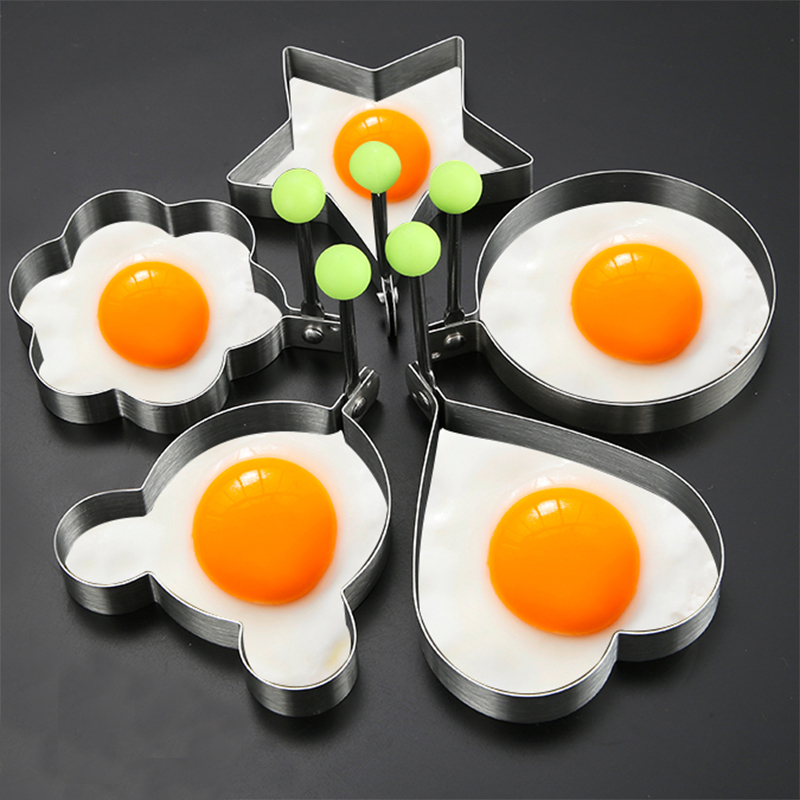 304 stainless steel omelette model poached egg grinder, love fried mold, creative mold,Kitchen tools