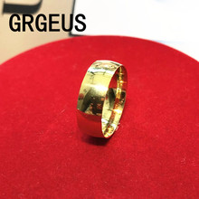 Gold Colour Men' Titanium Rings For Men 8mm Cool Jewelry wide gold wedding rings for women and men jewelry