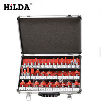 HILDA Woodworking 35pcs Set Router Bits Shank Router Bits Set Woodworking Milling Cutter Bits Woodworking Cutter