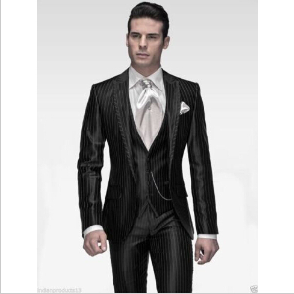 d4d0782fd719b 2015 Mens Wedding Suits Western Style Black Color Men Business Suits ...