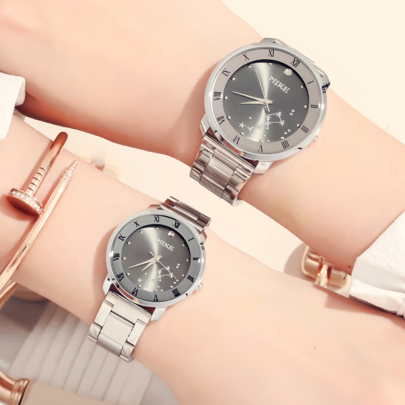 Lovers Watch Men And Women Luxury Watch For Couples Stainless Steel Strap Fashion Calendar Dress Quartz Wristwatches Box Packing