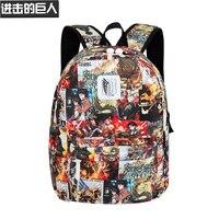 Anime Attack on Titan One Piece Trafalgar Law Backpack School Bag Boys Girls Bookbags Teenager Laptop Shoulders Bags Travel Bag