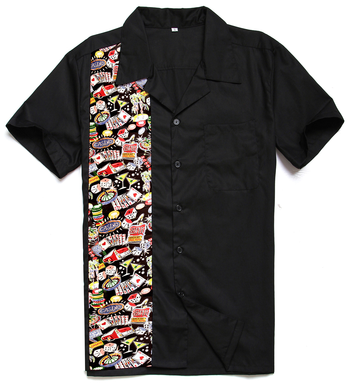Shirt design china - Candow Look 2017 New Designs Top Brand Cotton Cute Casino Print Rockabilly Hiphop Vintage 40s 50s