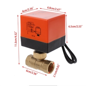 Image 5 - Điện Cơ Giới Đồng Van Bi DN15 AC 220V 2 Chiều 3 Dây Với Thiết Bị Truyền Động