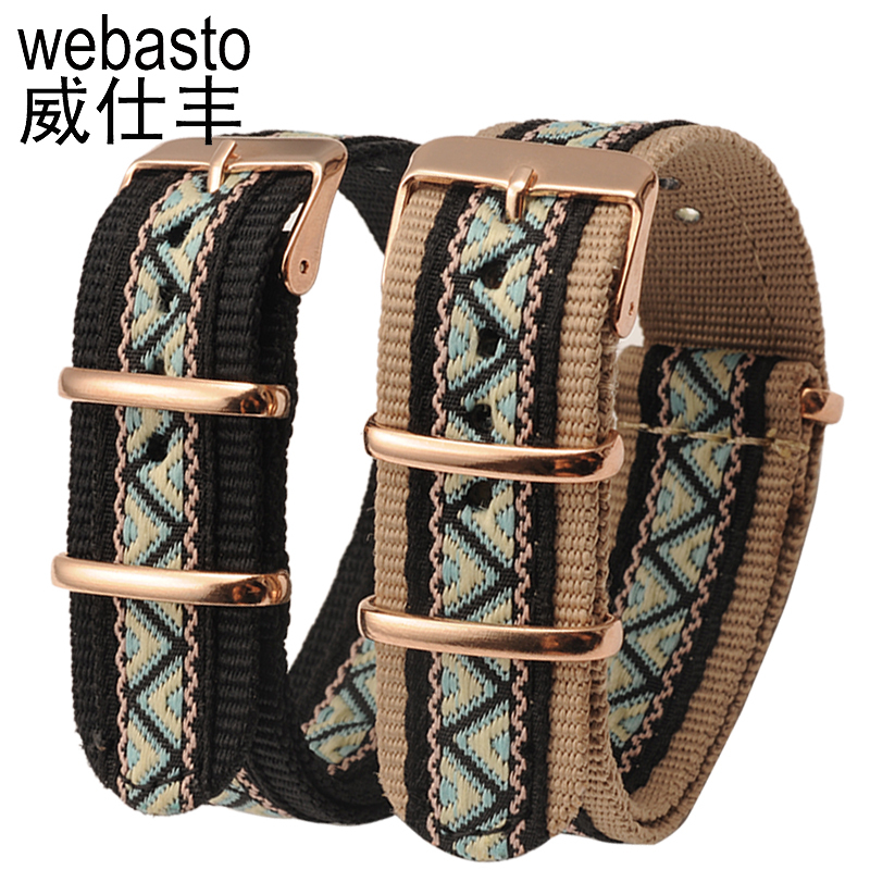 Webasto Watch Band For Daniel Wellington Nylon Straps Width 18 20mm Buckle Watch Strap Watchbands For DW Free Shipping