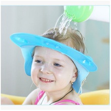 Adjustable Silicone Baby Shower Caps Protect Shampoo,Kids Ba