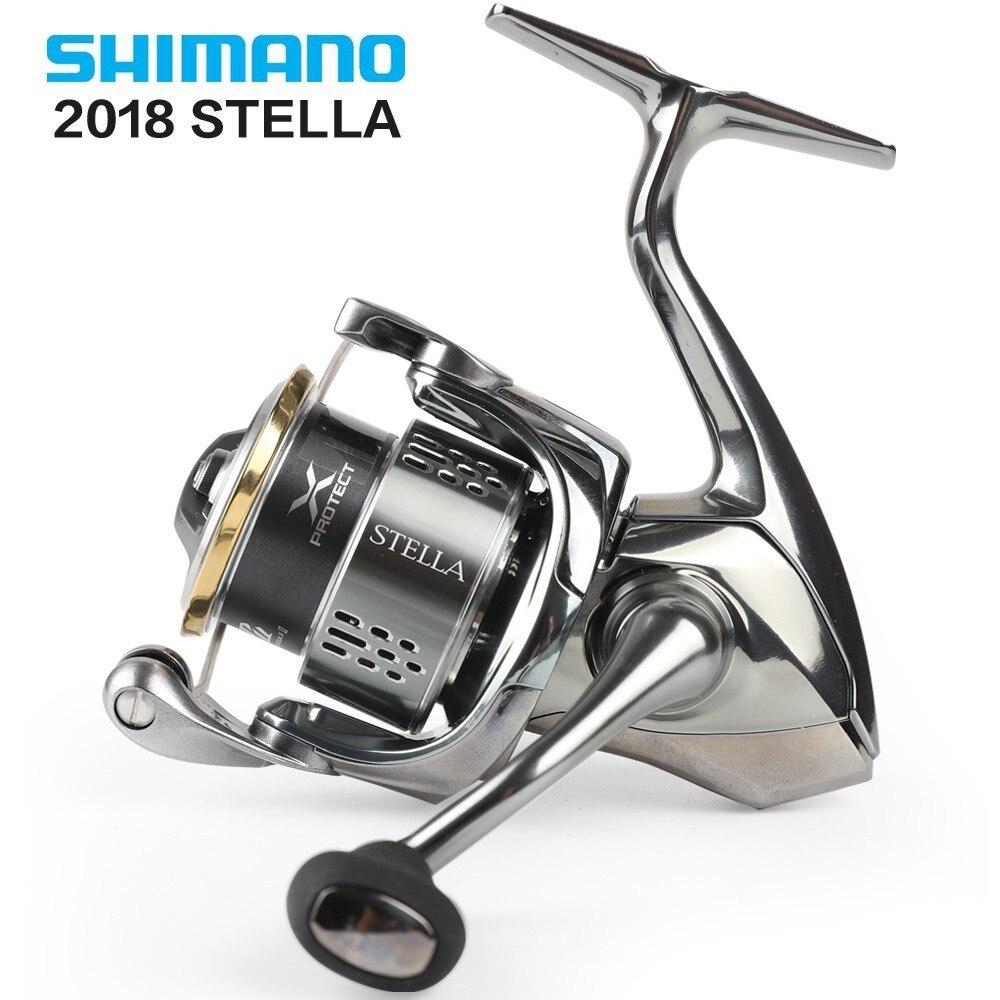 100% Original 2018 Shimano Stella 1000-5000 12 + 1bb léger 165-260g moulinet de pêche en rotation x-ship eau salée fabriqué au japon