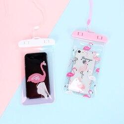 Милый Фламинго кактус Водонепроницаемый Чехол Сумка ПВХ сотовый Чехол для телефона для iPhone samsung портмоне держатель для карт кошелек сумка д...
