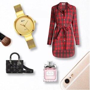 Image 3 - Mlle Fox Argent Minimaliste Montre En Acier Mince Style Simple Ultra Mince Montre Étanche Causal Xcfs Timepiece Femmes Bayan Kol Saat