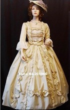 Custom Made Civil War VICTORIAN 1860s Ruffles Ball Gown/Princess&Bridal dress/Theater Dress