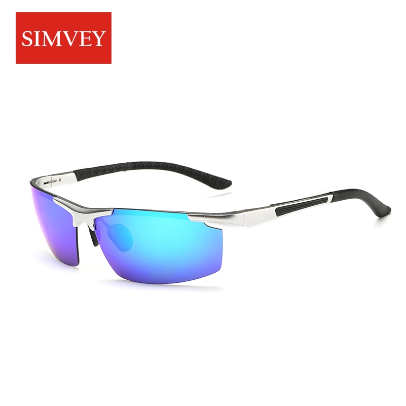 Simvey 2017 New Mens Aluminum Alloy Polarized Fishing Sun Glasses Brand Designer Driving Golf Sunglasses High Quality