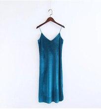 FREE SHIPPING !! Sexy Backless V neck Sleeveless Velvet Dress JKP975