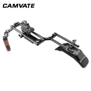 Image 3 - CAMVATE Camera Shoulder Rig With Foam Shoulder Pad & ARRI Rosette Dual Rod Clamp &Handle Grip For DSLR Camera Support System New