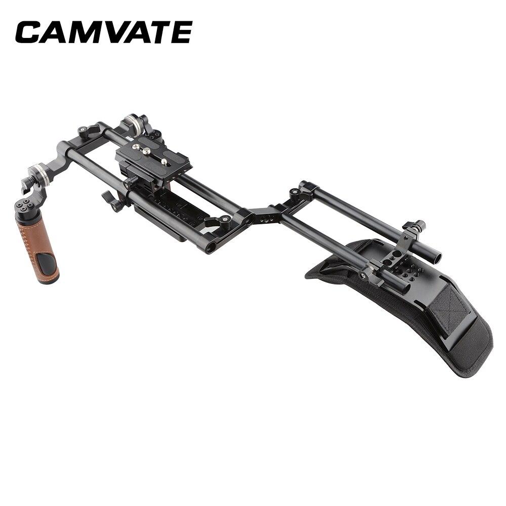 Image 3 - CAMVATE Dslr ショルダーマウントリグデュアルハンドグリップサポートキット C1769フォトスタジオ用アクセサリー   -