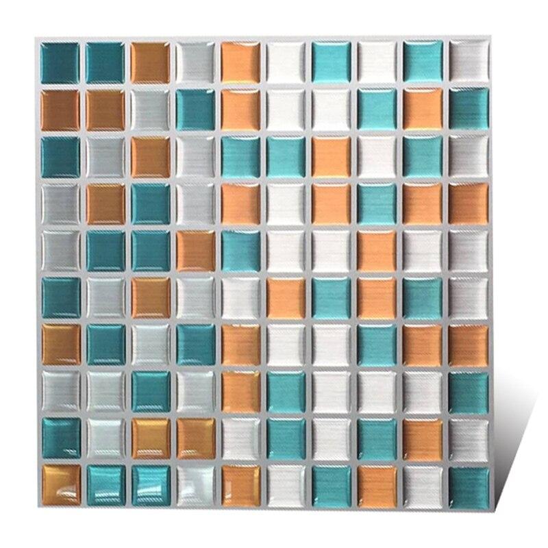 Free shipping Peel & Impress 9x 9 Mosaic tiles Adhesive Vinyl Wall Tiles, 10 Pack