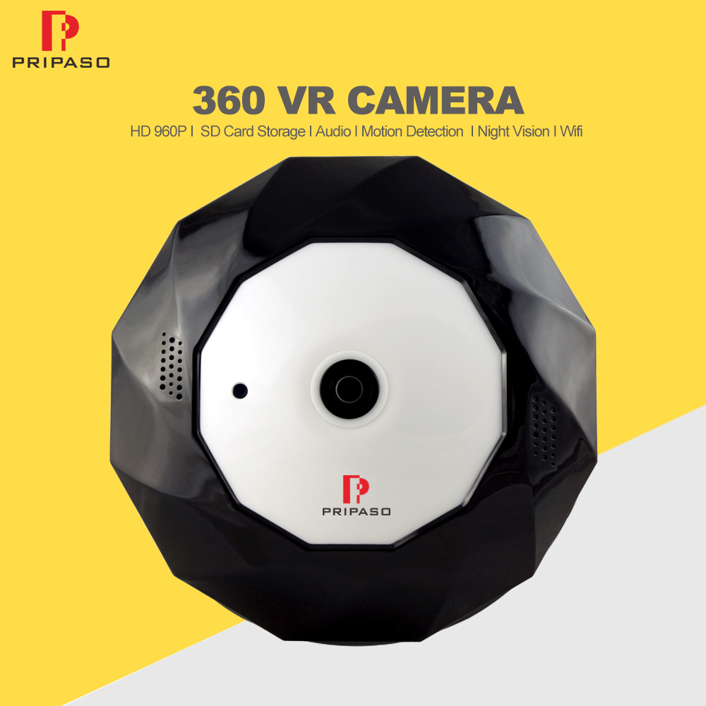 960P Wifi Camera 360 Degree Panoramic Camera Home Security Video Surveillance Night Vision FishEyes Lens Mini Wi-fi VR Camera insta360 air 3k hd 360 camera dual lens panoramic camera compact mini vr camera for samsung oppo huawei lg andriod smartphone