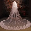 3m Wedding Veils 3 Meters Long Bridal Head Veils Top Quality Cathedral Veil Ivory/White Color Lace Women Wedding Accessories