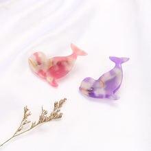 4 цвета заколки для волос с дельфинами женские ручной работы