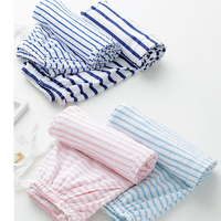 Summer cotton pajamas women A14 spring and autumn large size loose couple trousers