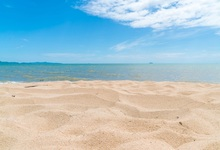 Laeacco Tropical Summer Sea Beach Sand Cloudy Sky Child Scenic Photography Backgrounds Photographic Backdrops For Photo Studio