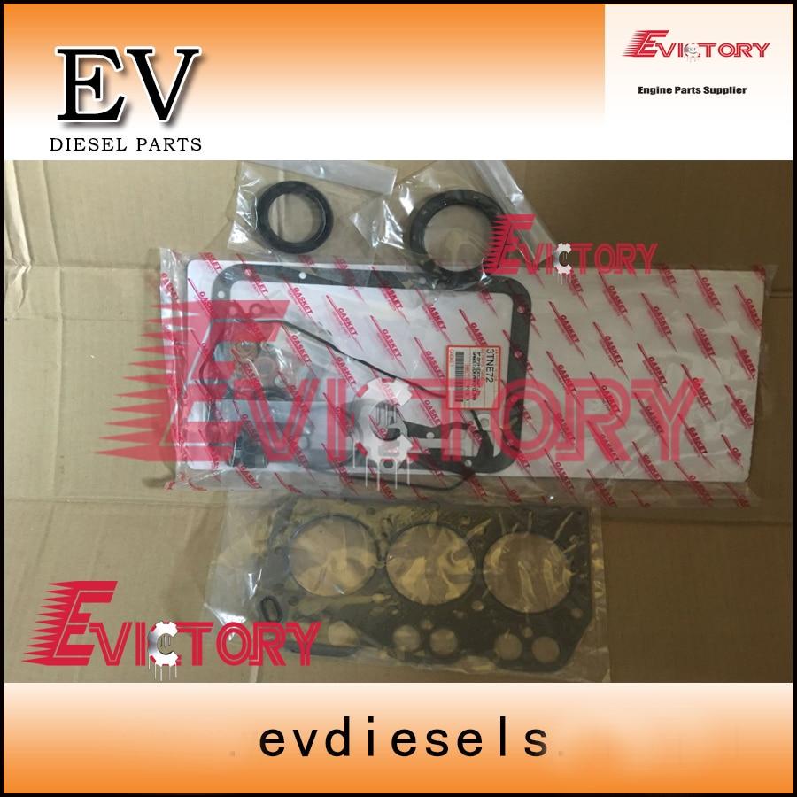 Per Yanmar 3D72 3TNE72 3TNV72 3TNA72 kit guarnizioni completo + pistone anello + albero motore e con cuscinetto di biella