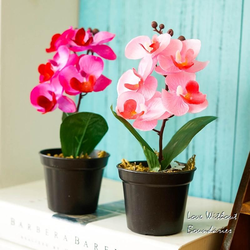 Moh orhideja, orhideja metulja, Simulacija umetnega cvetja, Okrasitev - Prazniki in zabave - Fotografija 1