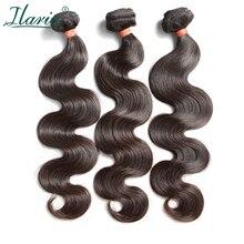 """ILARIA волосы 8A норки бразильские волнистые девственные волосы 3 пучка s толстые и полные 0""""-36"""" необработанные человеческие волосы переплетения пучок"""