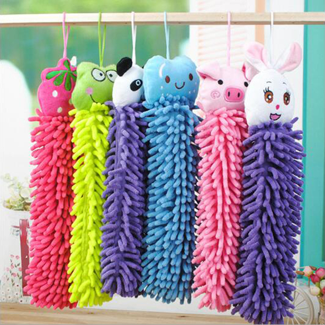 New Cute Kitchen Towel Hanging Microfiber Soft Hand Towels Kids Enjoy Clean  And Dry Hands For