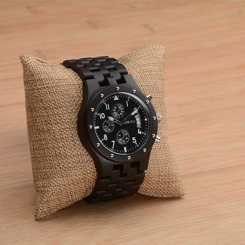 BEWELL Wood Watch Mens Watches Top Brand Luxury Designer Military Watch Quartz Analog Wrist Watch with Chronograph Calendar Date 13