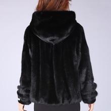 2016 new arrival women's fur mink coat whole mink hooded short paragraph Puff coat Specials