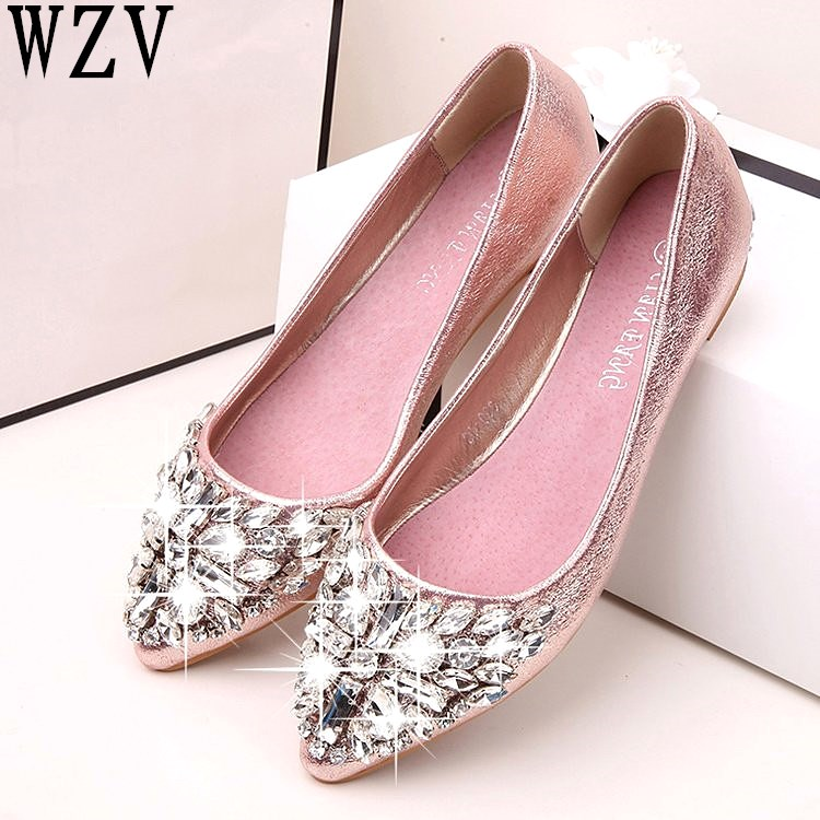 spring summer Women Rhinestone Flats Shoes Pointed Toe Ladise shoes Casual Low Heel Flat Shoes woman zapatos mujer E523spring summer Women Rhinestone Flats Shoes Pointed Toe Ladise shoes Casual Low Heel Flat Shoes woman zapatos mujer E523