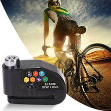 Bicycle Alarm Lock Anti-theft Electric Motorcycle Disc Brake Alarm Security Electron Lock for Motorbike Safety Bicycle