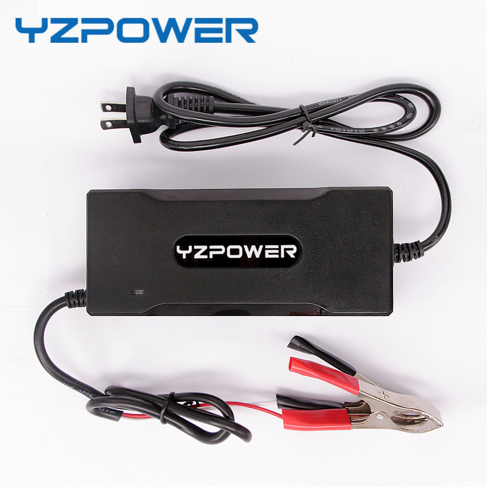 YZPOWER 12.6V 8A Lithium ion Battery Charger For 12V Lipo Battery Pack Recharge цены