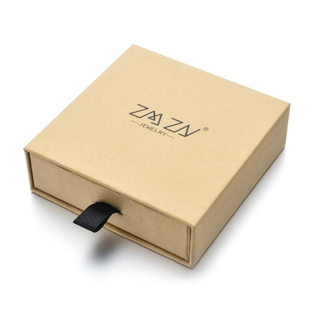 ZMZY Brand Kraft Paper Box Square Drawer Box Jewelry Gift Box Bracelet Bangle Luxury Sponge Boxes For Display