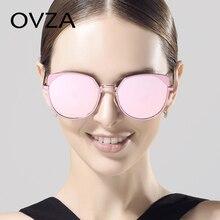 Ovza 2017 Новые высокого класса Кошачий глаз Солнцезащитные очки Для женщин meatl кадры моды наружное Защита от солнца очки розовый элегантный женский Защита от солнца стекло S8010