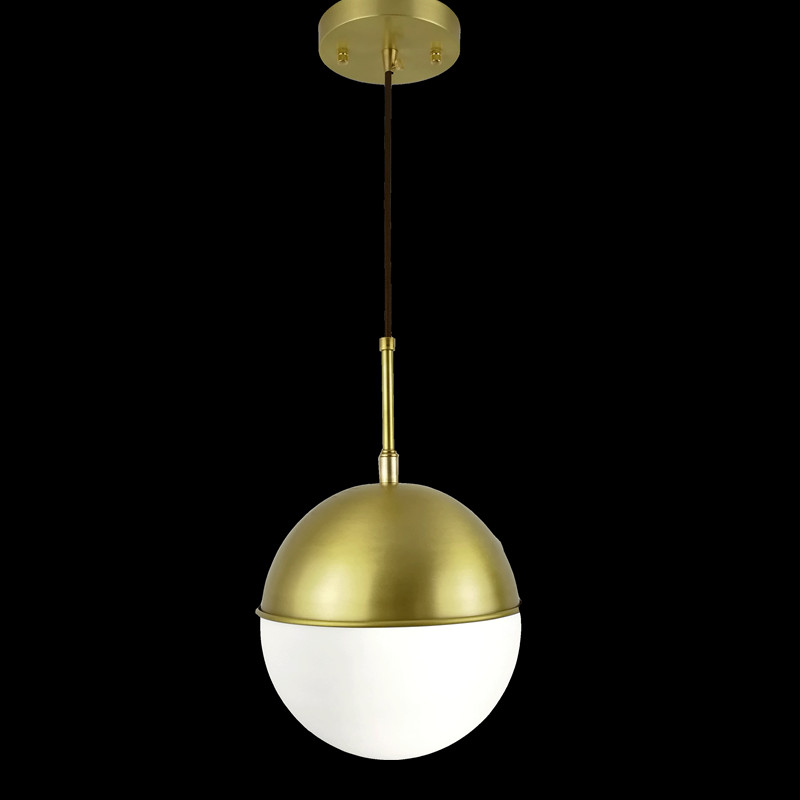 Vintage brass Pendant Light Loft Creative Personality Style For Living Room window shop home decoration copper glass lighting modern glass round white ball brass pendant light led chain cord copper lamp fixture for living room window shop home decoration
