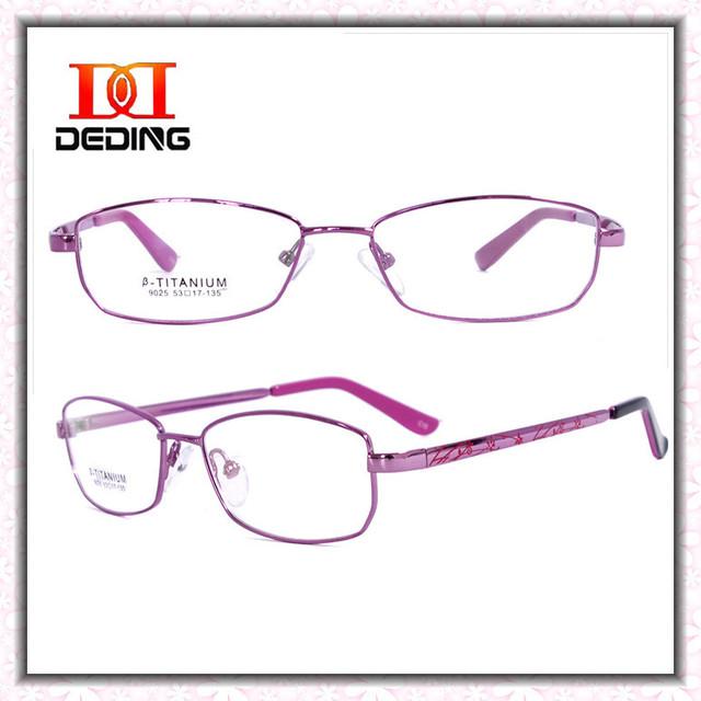 Титан очки для женщин бизнес оптический близорукость очки óculos де грау Femininos DD0740
