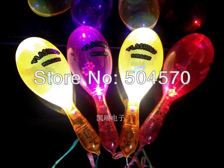 10ks / lot 19CM LED blikající Maraca Stick, svatební narozeninové párty jásající potřeby děti light-up hračky záře stick zásoby