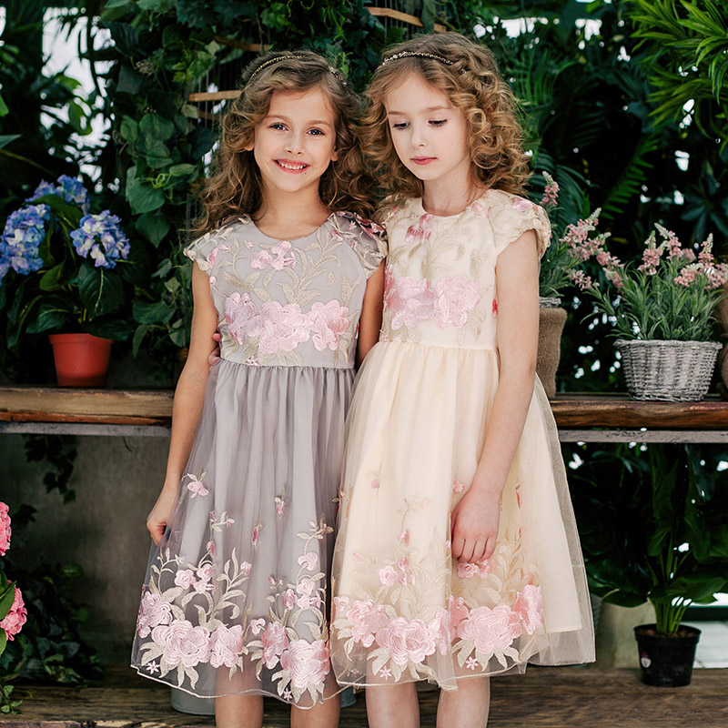 DKDGNY 3-10T Baby Girls Princess Dress Floral Embroidery Dress 2018 Summer Kids Tulle Dresses for Girls Festival Party Dress spare parts cap of motor for cheerson cx 20 cx20 rc quadcopter silver