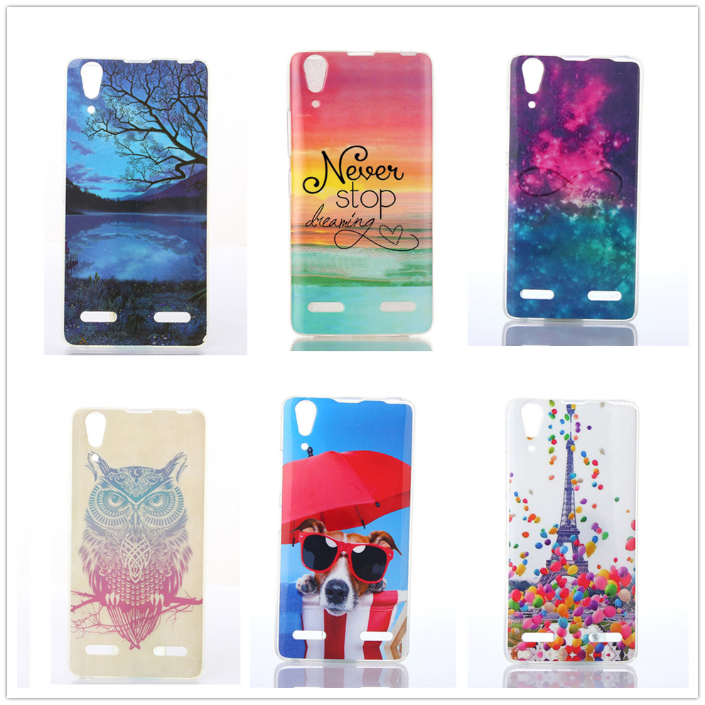 Mobile Phone Bag Cover for Lenovo A 6000 A 6010 Cute Phone Case Soft IMD TPU Back Shell for Lenovo A6000 A6010 Back Shell