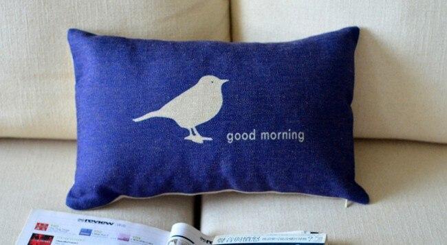 Bird good morning pillow covers sofa chair cushions shabby chic home decor No Inner