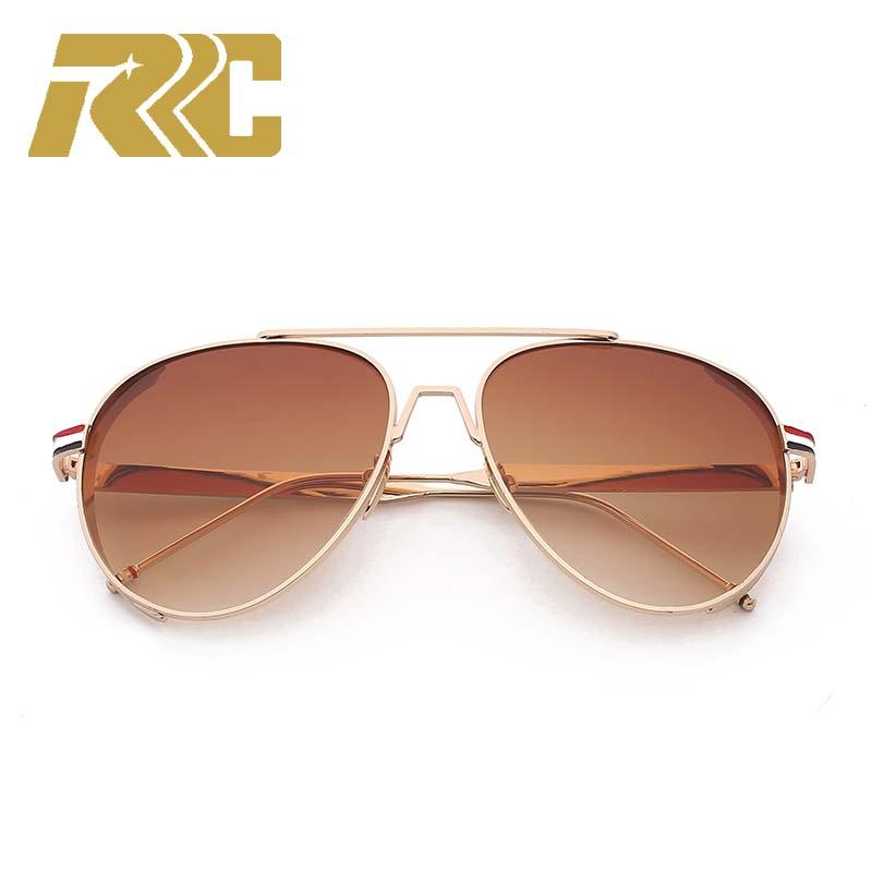 bda1bfea1b0d2 RRC Metal Frame Men s Sunglasses Trends Pilot Sunglasses Men Vintage Style  Cool Shades Male Fashion Design Sun Glasses For Men