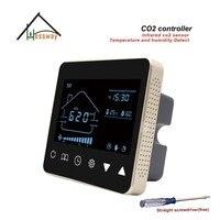 HESSWAY Nather NDIR мониторинга качества воздуха co2 детектор газа управления 3 скорости вентилятора для Температура и влажности